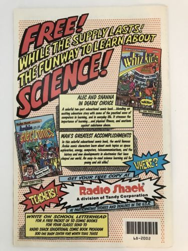 Radio Shack Presents Archie and the History of Electronics Comic Book 1990