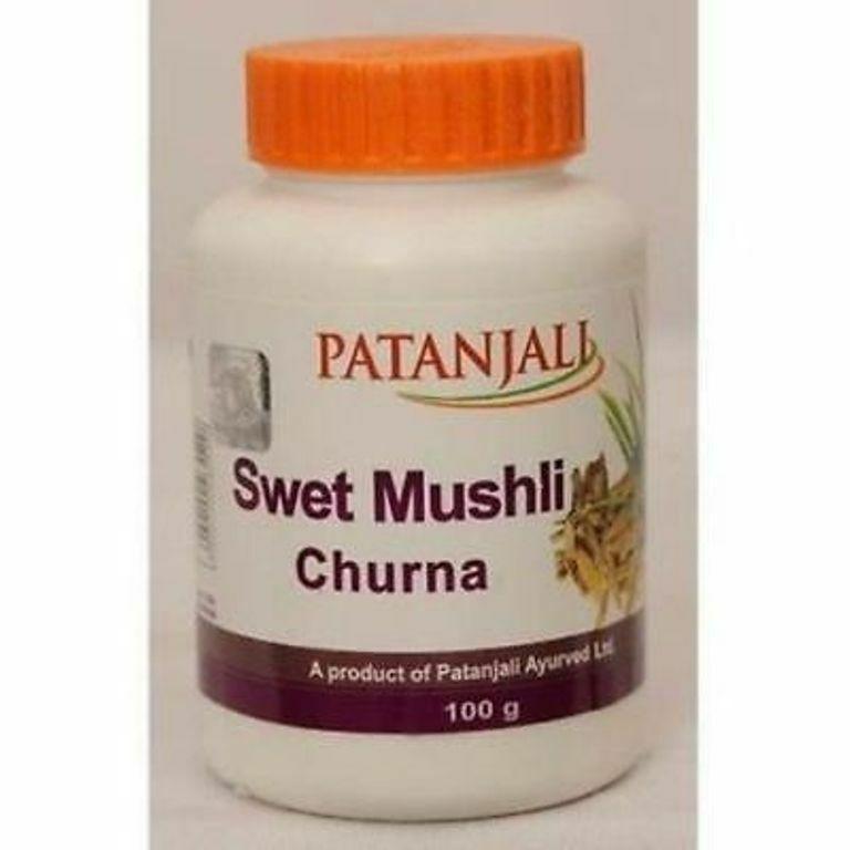 Patanjali Safed Musli Powder HERBAL EDH SWET MUSHLI Churna (Pack of 3)