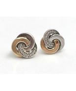 Authentic Pandora Interlinked Circles Stud Earrings w/ 14K  290741CZ, New - $81.69