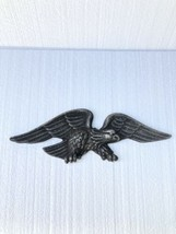 Vtg Patriotic American Eagle Heavy Cast Aluminum Garden House Wall Plaqu... - $19.79