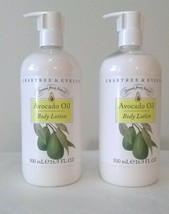 Crabtree & Evelyn AVOCADO OIL Body Lotion Drawn from Nature 16.9oz 2 Lot - $28.17