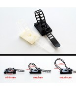 Nylon Cable Clamp10X Black White Adjustable Self Adhesive Clips Wire Cor... - $4.29