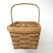 "1994 Handwoven Longaberger 11"" x 7"" x 5.5"" Market Basket Single Handle D... - $29.70"