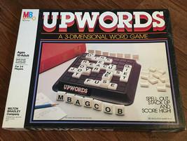Vintage Upwords Board Game Milton Bradley 3 Dimensional 3-D Letter Tiles Words - $14.75