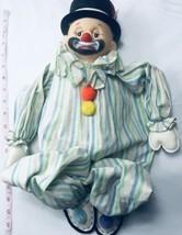 Vintage Clown Large Hate Plastic Sitting Wood Body Rare EUC - $128.69