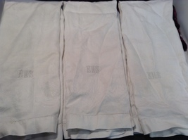 Set of 4 Antique Linen Embroidered Hand Towels  image 4