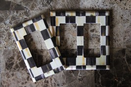 Single Rocker Switch Plate made w/Mackenzie Childs Courtly Check Tissue Paper - $11.11