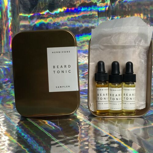 SEALED in Box Herbivore Beard Tonic Sampler Palo Santo Bergamot Vetiver Sage