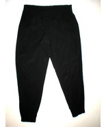 New Womens Athleta Jogger Pants 10 Black Casual Pockets Silky Ruched Wai... - $39.50