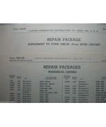 2 GENUINE CARTER CARBURETOR SERVICE REPAIR PACKAGES FORM 3383-ZB + 4983-... - $5.75