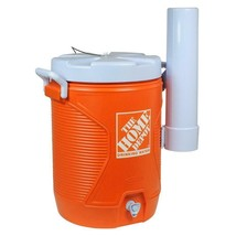 5 Gal. Orange Water Cooler with Cup Dispenser - £31.02 GBP