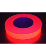 1 Inch Orange UV Blacklight Reactive Fluorescent Gaffer Tape 1 Roll x 50... - $16.50