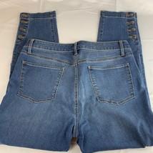 Talbots Womens Jeans 14 Petites 33x27 Denim Buttons Ankle Pants - $13.55