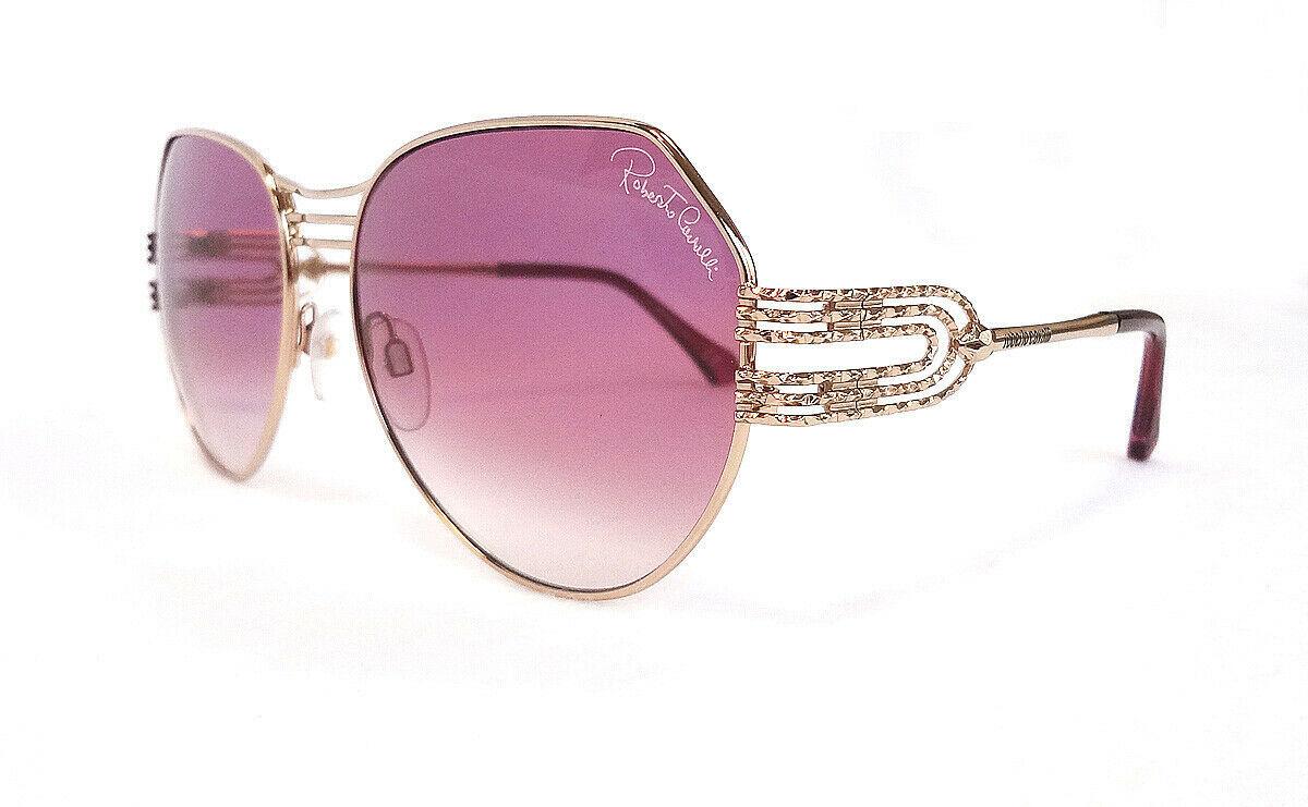 Roberto Cavalli Women's Sunglasses RC1064S 28Z 58-16-135 Gold Metal ITALY - New!