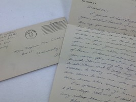 WW2 Soldiers Letter To sister 1942 Ft Jackson to University of AL Coed 2... - $17.81