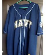 United States Navy Rapid Dominance Button Up Baseball Jersey Men's Sz L ... - $37.95
