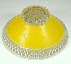 Bright Yellow Deco Light Shade Bubble pattern & texturized - $39.99