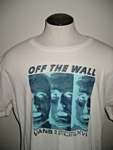 Vans Shoes Mens SS Melted Mind Tee Shirt Off White Green size XL Free Ship NWT - $24.74