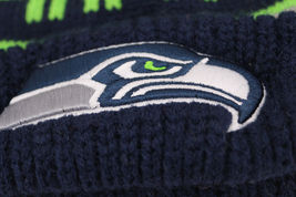 Seattle Seahawks Two Tone Warm Winter Cuffed Knit Hat Sport Pom Ski Beanie Cap image 3