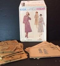 Vogue American Designer Sewing Pattern 1961 Jerry Silverman 10 Dress Coa... - $12.65