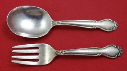 Primary image for Wedding Bells By International Sterling Silver Baby Serving Set 2pc