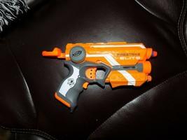 Firestrike Nerf Gun Hasbro N-Strike Elite Blaster Red Dot with Darts Batteries - $18.48