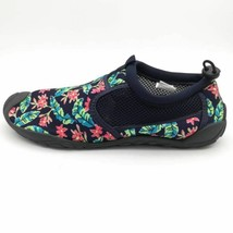 Lands End Womens Water Shoes Multicolor Green Floral Low Top Slip On Mes... - $19.79