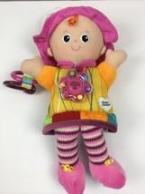 "Lamaze Stuffed Plush Lovie Girl Doll Crinkle Rattle Developmental Toy 12"" - $11.88"