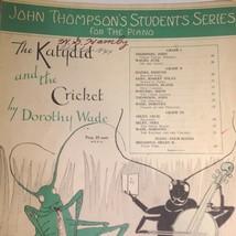 VTG Sheet Music The Katydid and the Cricket 1936 John Thompson Student S... - $17.77