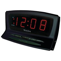 Westclox 70012BK Instant-Set LED Alarm Clock - $44.23