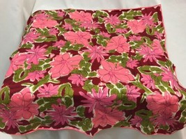 Vintage Scarves by Vera Pink and Red Floral Scarf, Made in Japan - $37.99