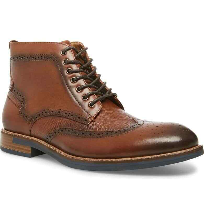 Superior Coffee Brown Handmade Leather High Ankle Men Lace Up Customized Boots image 2