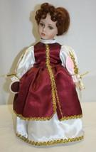 Vintage Rapunzel Porcelain Doll Brinn's 1998 Green Eyes Brown Hair - $19.79