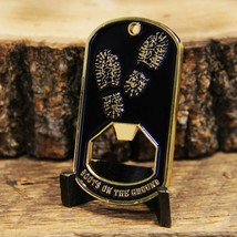 "ARMY STRONG BOOTS ON THE GROUND 2.5"" BOTTLE OPENER DOG TAG CHALLENGE COIN - $18.04"
