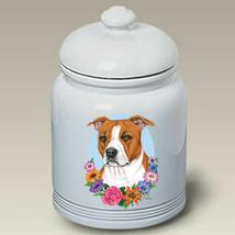 Pit Bull Terrier Tan & White Treat Jar - $44.95