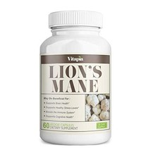 Vitapia Lion's Mane 1000mg per Serving - 60 Veggie Capsules - Vegan and Non-GMO