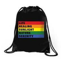 Life Healing Sunlight Nature Serenity Drawstring Bags - $30.00