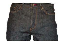 Dissizit! Danger 5-pocket Classic Fit Raw Black/Indigo Denim Jeans NWT image 4