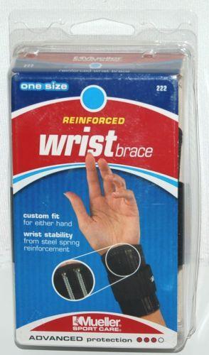 Mueller 222 Reinforced Wrist Brace One Size Color Black