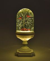 """13.2"""" Dome Water Lantern w Cardinals and Red Truck w Pine Trees image 3"""