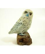 Snowy Owl Hand Painted Figurine Figure Enesco White on Driftwood 1989 Vi... - $12.82