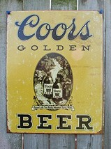 Poster Discount COORS Golden Vintage Tin Sign, 12x16 - $10.38
