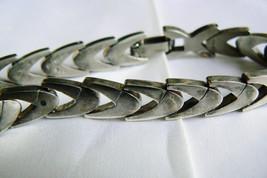 """Vintage Sterling Silver 925 Shevron link  Bracelet 8""""L image 2"""