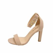 Qupid Hurst 01 Nude Women's Open Toe Ankle Strap Sandal Heels - $31.95