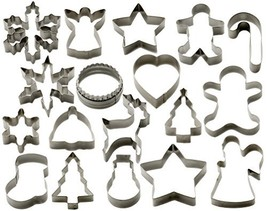 StarPack Christmas Cookie Cutters Set (18 Piece) – Favorite Holiday Shapes