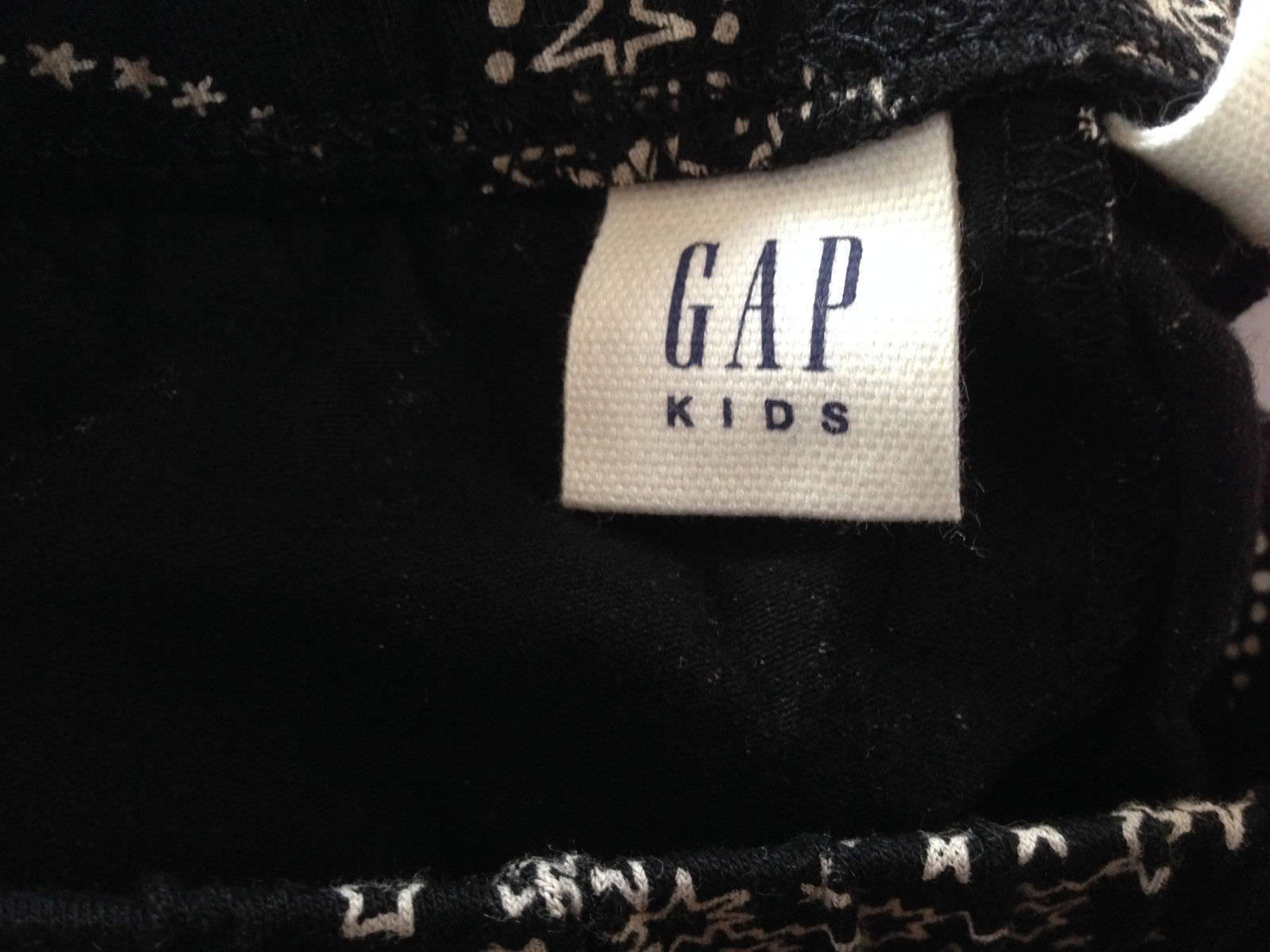 Gap Kids Girls Legging 10 Black White Star Paisley Print Geo Knit Stretch New image 4
