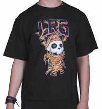 LRG Mummy Wrapped Panda Men's Premium Fit Black Graphic Tee NWT