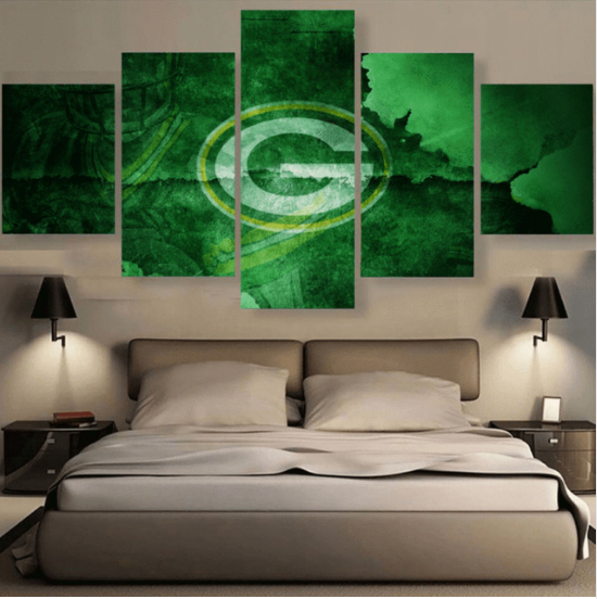 5 Pcs Green Bay Packers Vintage Painting HD Printed Canvas Wall Art Home Décor for sale  USA