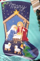 Bucilla Holy Nativity Manger Wiseman Stable Christmas Felt Stocking Kit ... - $52.95