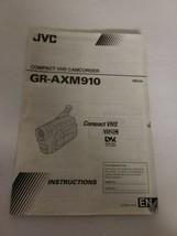 JVC GR-AXM910 VHS-C Analog Camcorder Original Instruction Manual  - $20.00